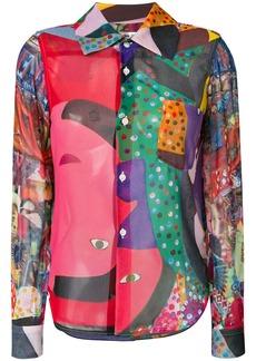 Comme Des Garçons graphic print shirt - Multicolour