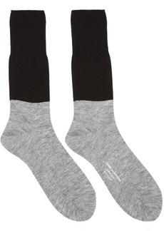 Comme des Garçons Homme Plus Black & Grey Colorblocked Jersey Socks