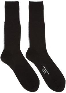 Comme des Garçons Homme Plus Black Back Stripe Jersey Socks