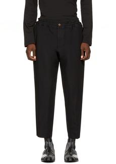 Comme des Garçons Homme Plus Black Elastic Waist Trousers