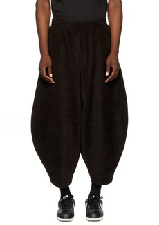 Comme des Garçons Homme Plus Black Fleece Lounge Pants