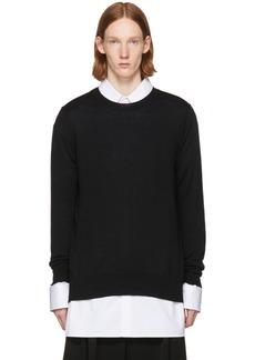 Comme des Garçons Homme Plus Black Layered Open Back Sweater