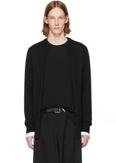 Comme des Garçons Homme Plus Black Layered Open Front Sweater