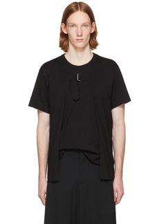 Comme des Garçons Homme Plus Black Open Front Strap T-Shirt