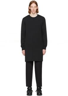Comme des Garçons Homme Plus Black Overlong Sweatshirt