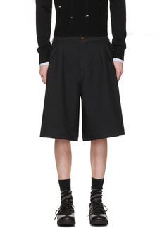 Comme des Garçons Homme Plus Black Oversized Twill Shorts