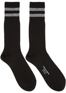 Comme des Garçons Homme Plus Black Rib Stripes Socks