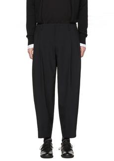 Comme des Garçons Homme Plus Black Tropical Wool Trousers