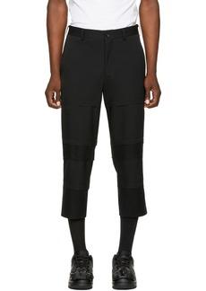 Comme des Garçons Homme Plus Black Wool Panel Trousers