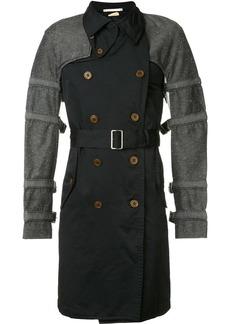 Comme Des Garçons Homme Plus buckled bondage trench coat - Black