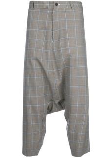Comme Des Garçons Homme Plus check drop-crotch trousers - Brown