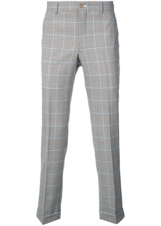 Comme Des Garçons Homme Plus checked straight trousers - Brown