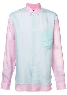 Comme Des Garçons Homme Plus double layer collared shirt - Pink &