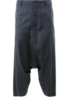 Comme Des Garçons Homme Plus drop-crotch plaid trousers - Blue