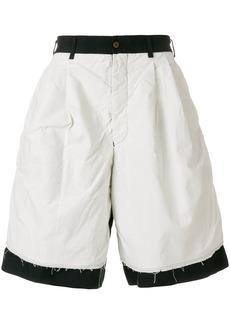 Comme Des Garçons Homme Plus dual tone shorts - Black