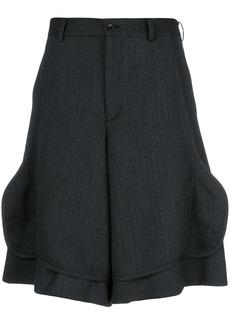 Comme Des Garçons Homme Plus front flap tailored shorts - Black