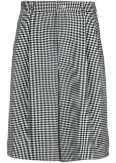 Comme Des Garçons Homme Plus gingham tailored shorts - Black