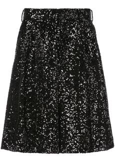 Comme Des Garçons Homme Plus glitter shorts - Black