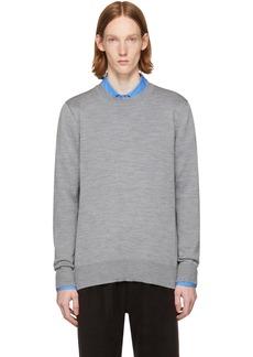 Comme des Garçons Homme Plus Grey Layered Open Back Sweater