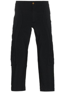 Comme Des Garçons Homme Plus Irregular Stitching Cropped Trousers -