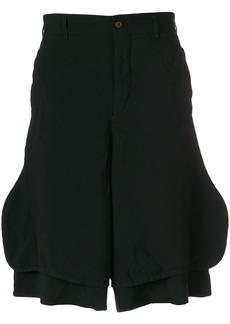 Comme Des Garçons Homme Plus layered knee length shorts - Black