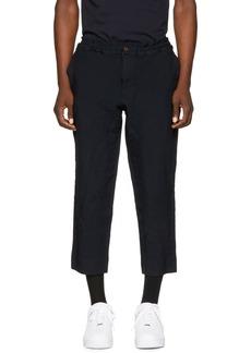 Comme des Garçons Homme Plus Navy Elastic Waist Trousers