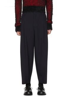 Comme des Garçons Homme Plus Navy Tropical Wool Trousers