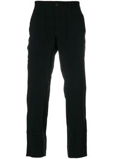 Comme Des Garçons Homme Plus paneled straight leg trousers - Black