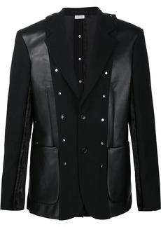 Comme Des Garçons Homme Plus patchwork blazer - Black