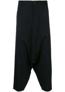Comme Des Garçons Homme Plus sarrouel cropped trousers - Black