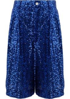 Comme Des Garçons Homme Plus sequin embellished shorts - Blue