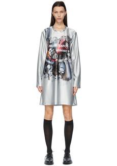 Comme des Garçons Homme Plus Silver Print Dress