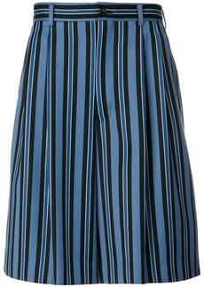 Comme Des Garçons Homme Plus striped shorts - Blue