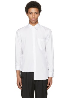Comme des Garçons Homme Plus White Asymmetric Shirt