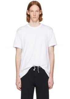 Comme des Garçons Homme Plus White Open Back Strap T-Shirt