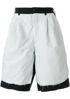 Comme Des Garçons Homme Plus wide leg bermuda shorts - Blue