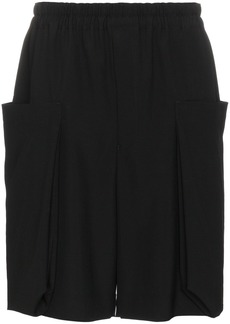 Comme Des Garçons Homme Plus Wool shorts with drawstring waist - Black