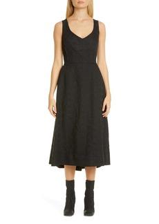 Comme des Garçons Logo Letters Jacquard Midi Dress