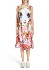 Comme des Garçons Manga Print Sleeveless Dress