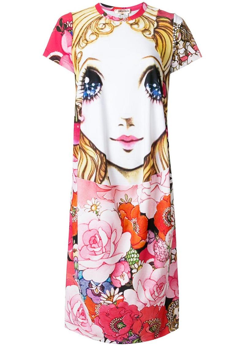 Comme Des Garçons Manga print T-shirt dress - Multicolour
