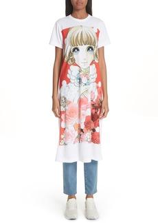 Comme des Garçons Manga Print T-Shirt Dress
