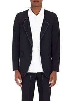 Comme des Garçons Men's Wool Twill Collarless Sportcoat