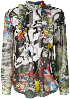 Comme Des Garçons multi-pattern blouse - Multicolour