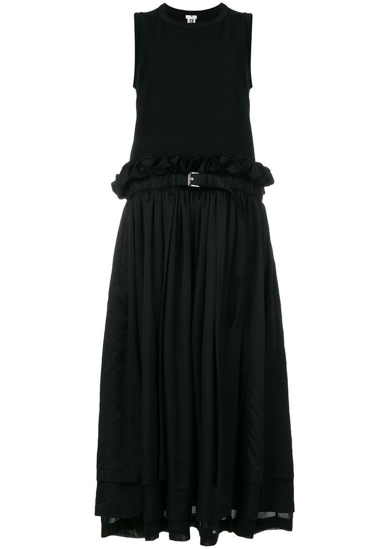 Comme Des Garçons Noir Kei Ninomiya belted midi dress - Black