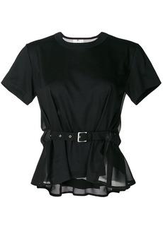 Comme Des Garçons Noir Kei Ninomiya belted T-shirt - Black