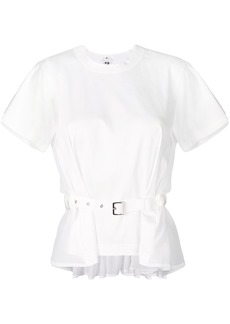 Comme Des Garçons Noir Kei Ninomiya belted T-shirt - White