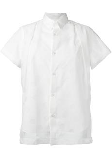Comme Des Garçons Noir Kei Ninomiya pleat detail shirt - White