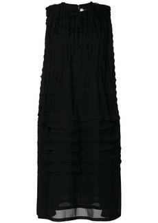 Comme Des Garçons Noir Kei Ninomiya pleated detail midi dress - Black