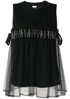 Comme Des Garçons Noir Kei Ninomiya ruffle sleeveless blouse - Black