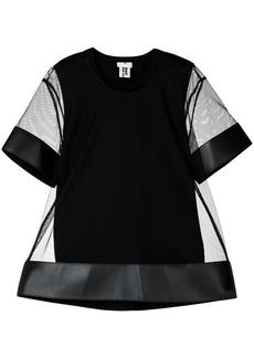 Comme Des Garçons Noir Kei Ninomiya short-sleeve sheer blouse - Black